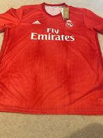 New Adidas Men's Real Madrid Soccer Jersey Size XL Red