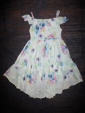 NEW Girls Boutique White Floral Hi Low Dress 6-7