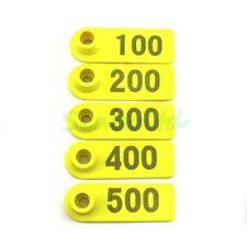 4sets Plastic Livestock Tag (501-1000 2pcs   001-500 2Pcs )