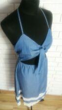 Lovers + Friends Tie-Front Chambray Dress with Crochet Trim size S (RRP £170)