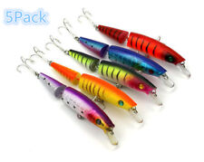 Fishing Crank Bait Hard Lures 14cm 20g Jointed Minnow Spinning Pike Treble Hook