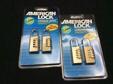 American Lock Luggage & Sports Bags Locks 4pcs. 4 Dial combo.