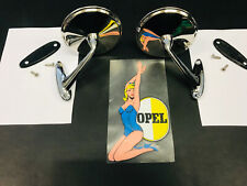 NEW Chrome Mirrors Mirror Set | Opel Rekord C Commodore | a | Kadett B | GT