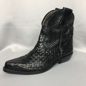 Enzo Angiolini Womens Ankle Booties Black Leather Size 8