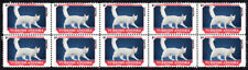 Turkish Angora Feline Friends Cat Breeds Strip Of 10 Mint Stamps