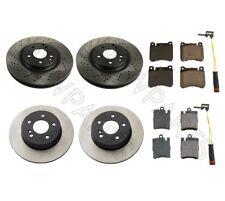 For Mercedes W203 C-Class Front & Rear Brake Discs Pads Sensors KIT Aftermarket