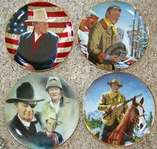 John Wayne Franklin Mint Heirloom Collector's Plates 4 Each (#2)