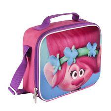 Children Kids Trolls Poppy 3D Effect Insulated Pink Lunch Bag
