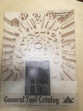 1944 Carboloy General Tool Catalog ~ Boring Grooving Turning Blanks Gage Bushing