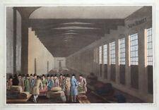 CLOTH HALL, LEEDS, COSTUME OF YORKSHIRE, G.Walker original antique print 1814