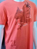 Daniel Cremieux Orange Graphic of Hawk Men's T-Shirt L Large