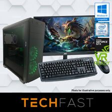 "i5 8600K 120GB/1TB 8GB DDR4 GTX 1080 8GB 27"" Gaming Computer Desktop PC Bundle"