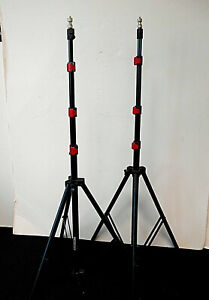 2-Mini Compact Photo Light Stands #4012 w/carrying case