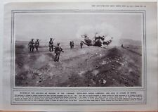 1915 WWI WW1 PRINT BLOWING UP RAILWAY GERMAN SOUTH WEST AFRICA CAMPAIGN SERBIA