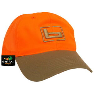 "NEW BANDED GEAR UPLAND HUNTING HAT TRUCKER CAP BLAZE ORANGE TAN W/ ""b"" LOGO"