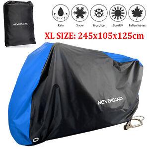 XL Large Motorcycle Bike Motorbike Cover Waterproof Outdoor Rain UV Protector UK