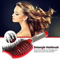 Anti-static Scalp Massage Comb Bristle Curly Detangle Hair Brush Style Tools(Red