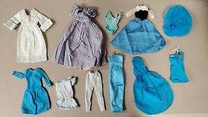 6F~TLC 67~ MIXED BARBIE DOLL FASHION CLOTHING USED CLOTHES TLC LOT FOR OOAK PLAY