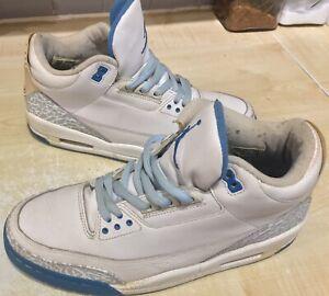 Nike Air Jordan 3 III Retro Harbor Blue 2007 UK 9.5 RARE