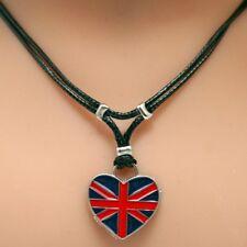 Collier pendentif cœur drapeau Anglais - Royaume-Uni  - Union Jack heart pendant