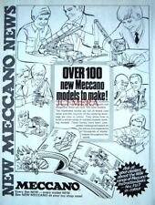 1970 MECCANO Advert 'Instruction Book for 100+ New Models' - Vintage Print Ad