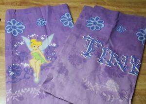 """Disney Fairies Tinkerbell Purple Decorative Valance Curtain 84""""x 18"""" New Lot X2"""