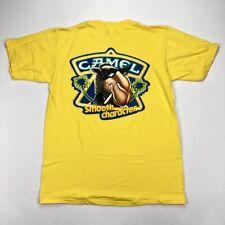 NEW Vintage 1980s Joe Camel Cigarettes Yellow Single Stitch Tee T-Shirt • LARGE