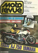 MOTO REVUE N°643 XJ 750 YAMAHA / KTM 125 GS ET MAICO 490 MC / DESHEULLES
