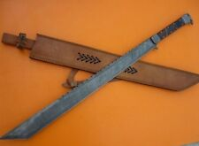 Awesome Handmade 33.0 inches Damascus Steel Sword Tanto Blade