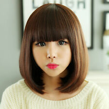 FIXSF501  charming straight short brown hair wigs for modern women wig