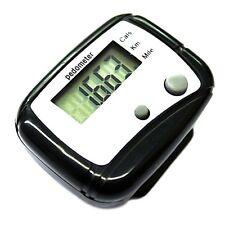 Digital LCD Pedometer Pocket Counter Walking Black