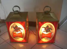 Budweiser Beer Two Lantern Electric Lights - Vintage