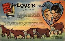 Tuscon Arizona Amerika Color AK ~1960/70 Post Card Storiettes The Love Brand