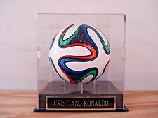 Soccer Ball Display Case For Your Cristiano Ronaldo Autographed Soccer Ball