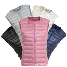 Fashion Womens Padded Quilted Down vest Gilet Body Warmer Sleeveless Warm Jacket