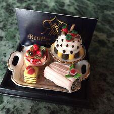 Reutter Porzellan Kuchen Set 1:12 Miniatur Puppenhaus Service Torten Cafe