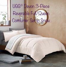 """UGG® Devon 3-Piece Reversible Full/Queen Comforter Set in Snow 90""""x 90"""""""