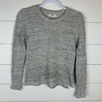 Madewell Womens Gray/Cream Size XS Long Sleeve Pullover Cotten Blend Sweater