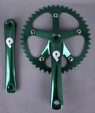 Pake Fixed Gear Track Messenger Single Speed Bike Crankset 165mm x 46t Green