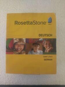 Rosetta Stone Deutsch Level 1, 2, 3 German, Version 3