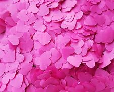 1300 + HOT PINK HEARTS CONFETTI LOVE WEDDING DECORATION/THROWING/ECO SUMMER