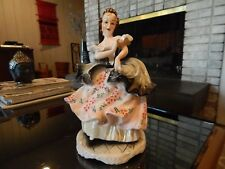 """Vintage Colonial Dancing Lady Figurine by Lipper & Mann Japan 9 1/2"""" H ex cond"""