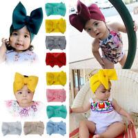Baby Girls Big Bow Hairband Headband Stretch Turban Big Knot Head Wrap Headwear