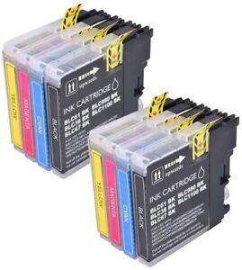 8 Ink Cartridges fit Brother LC1100 MFC-6890CDW MFC-990CW MFC-J615W MFC-6490CN