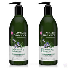 PACK OF 2 Avalon Organics NEW rejuvenating Rosemary Glycerin HAND SOAP