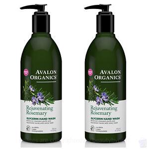 PACK OF 2 Avalon Organics NEW rejuvenating Rosemary Glycerin HAND SOAP