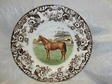 SPODE WOODLAND HORSES THOROUGHBRED HORSE 10.75 INCH DINNER PLATE RARE BRAND NEW