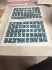 1973 - Australian Antarctic Territory AAT Adèlie Penguin 7¢ 1973 Full Sheet 100