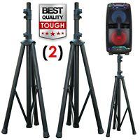 Pair EMB TSS2 Heavy Duty Pro Adjustable Height Tripod DJ PA Speaker Stands