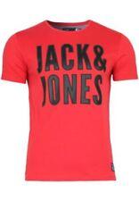 Magliette da uomo rossi JACK & JONES taglia S